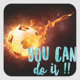 Soccer Motivational Inspirational Success Square Sticker