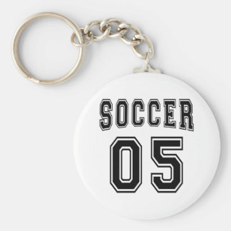 Soccer Number 05 Designs Key Chain