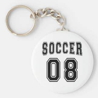 Soccer Number 08 Designs Keychain