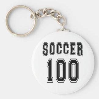 Soccer Number 100 Designs Keychain