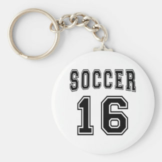 Soccer Number 16 Designs Key Chains