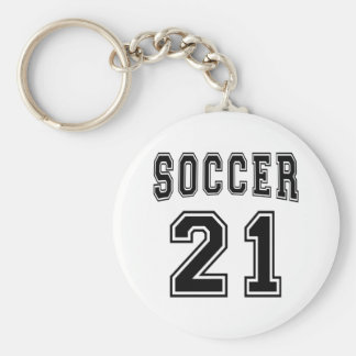 Soccer Number 21 Designs Key Chain