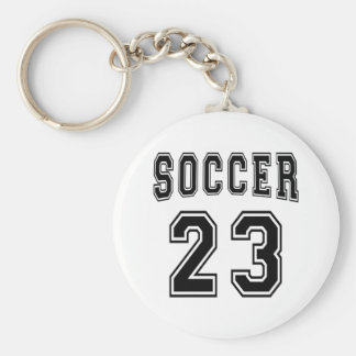 Soccer Number 23 Designs Basic Round Button Key Ring