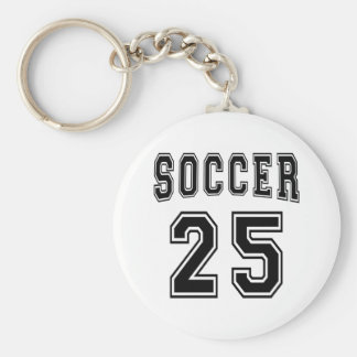Soccer Number 25 Designs Key Chain