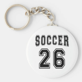 Soccer Number 26 Designs Key Chains