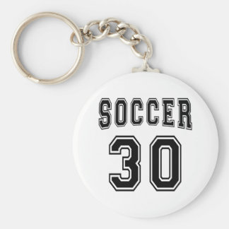 Soccer Number 30 Designs Keychains