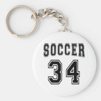 Soccer Number 34 Designs Keychains