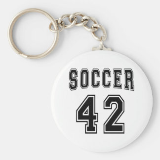 Soccer Number 42 Designs Key Chains