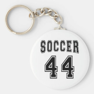 Soccer Number 44 Designs Keychain