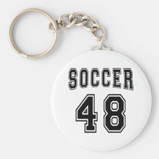 Soccer Number 48 Designs Keychains