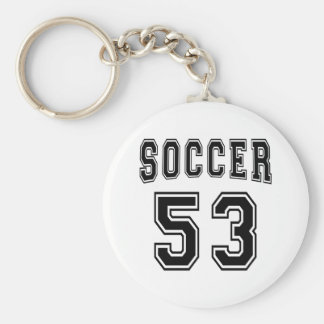 Soccer Number 53 Designs Key Chains