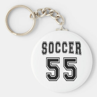 Soccer Number 55 Designs Keychain
