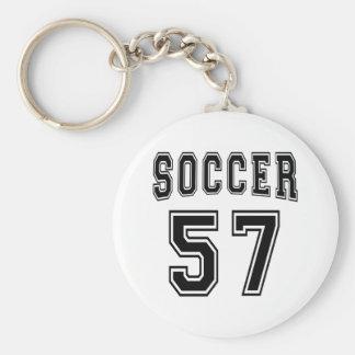 Soccer Number 57 Designs Keychains
