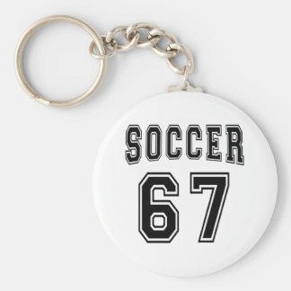 Soccer Number 67 Designs Keychain