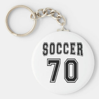 Soccer Number 70 Designs Key Chains