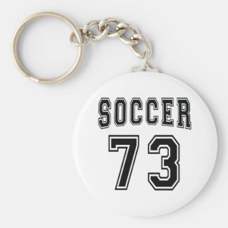Soccer Number 73 Designs Basic Round Button Key Ring