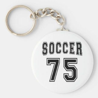 Soccer Number 75 Designs Key Chain