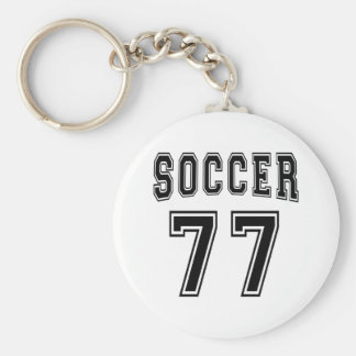 Soccer Number 77 Designs Keychains