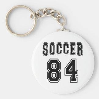 Soccer Number 84 Designs Keychain