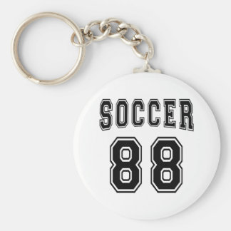 Soccer Number 88 Designs Basic Round Button Key Ring