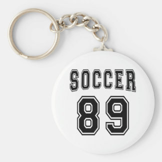 Soccer Number 89 Designs Key Chain