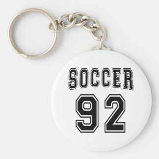 Soccer Number 92 Designs Keychain