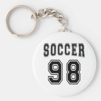 Soccer Number 98 Designs Keychain