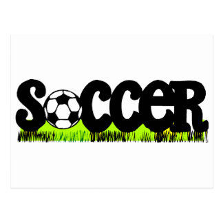 Soccer On Grass Post Card