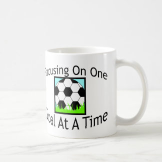 Soccer One Goal At A Time Classic White Coffee Mug