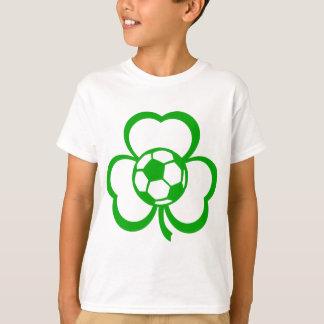 Soccer or Football Three Leaf Clover for St. Patri T-Shirt