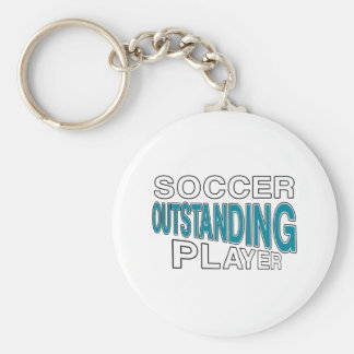 SOCCER OUTSTANDING PLAYER BASIC ROUND BUTTON KEY RING