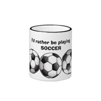 Soccer Pattern Coffee Mug