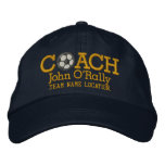 Soccer Personalise Coach Hat Name Team Embroidered Baseball Caps