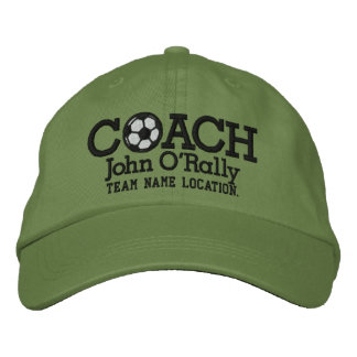 Soccer Personalize Coach Hat Name Team Embroidered Hat