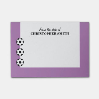 Soccer PERSONALIZE colour name Post-it® Notes