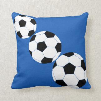 Soccer Pillow: Navy Soccer Cushion