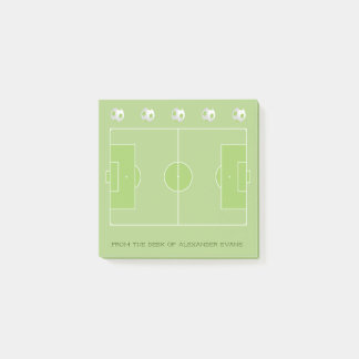 Soccer Pitch Post-it Notes