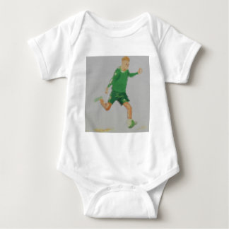 Soccer Player Art Baby Bodysuit