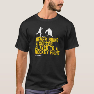 Soccer player at a hockey fight T-Shirt