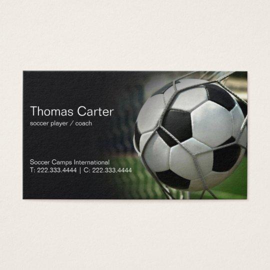 Soccer Player Coach Football Camp International Business Card