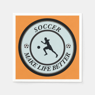 Soccer Player Disposable Napkin