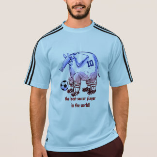 soccer player elephant cartoon style T-Shirt