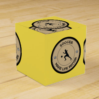 Soccer Player Favour Box