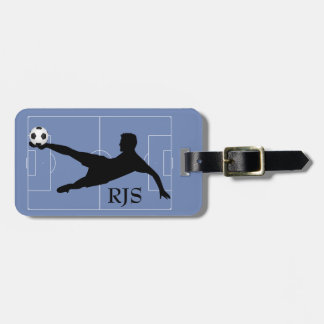 Soccer Player Field Monogram Luggage Tag
