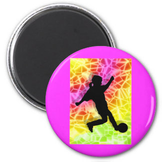 Soccer Player Fluorescent Mosaic Magnets
