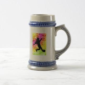 Soccer Player & Fluorescent Mosaic Mug