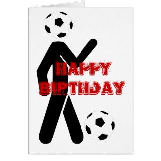 Soccer player, Happy, Birthday Card