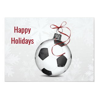soccer player Holiday Greeting Cards