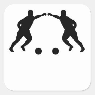 Soccer Player Mirror Image Sticker