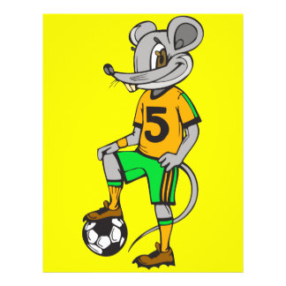 Soccer Player Mouse Full Color Flyer